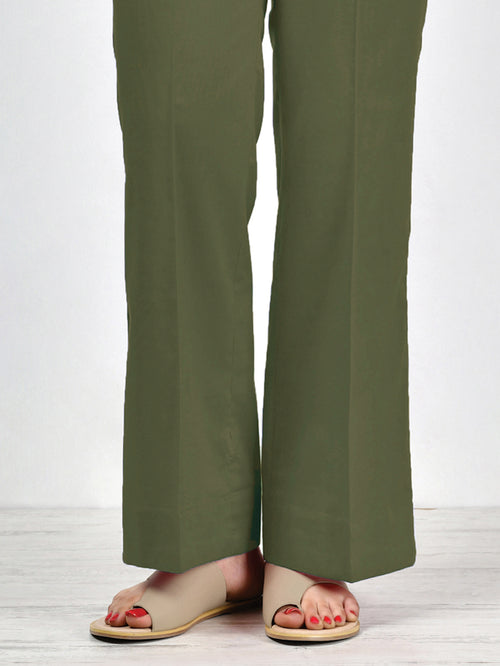 Unstitched Winter Trouser - Green