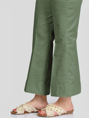 Unstitched Khaddar Trouser - Green