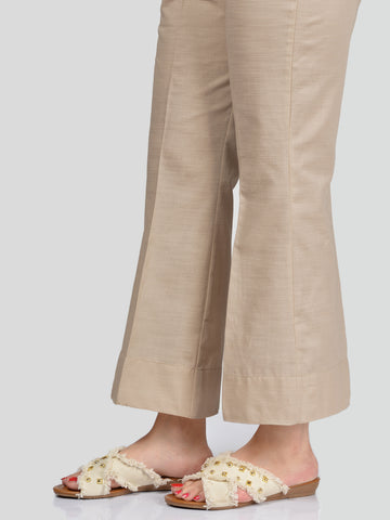 Unstitched Khaddar Trouser - Light Brown