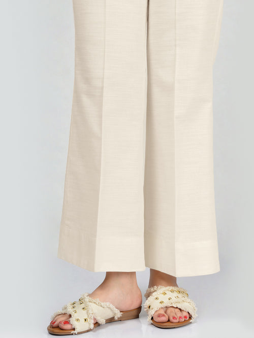 Unstitched Khaddar Trouser - Off White