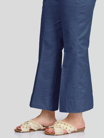 Unstitched Khaddar Trouser - Royal Blue