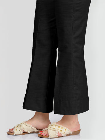 Unstitched Khaddar Trouser - Black