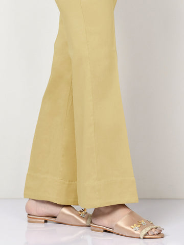 Unstitched Cambric Trouser - Lemon