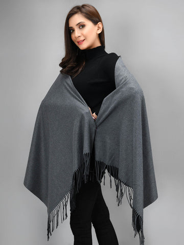 Two Toned Shawl - Black