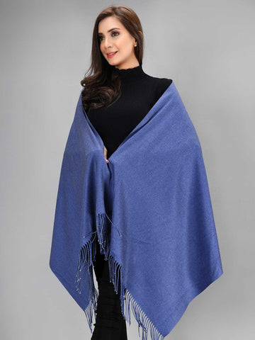 Two Toned Shawl - Blue