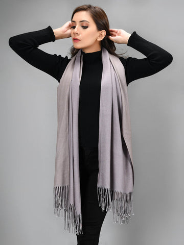 Two Toned Shawl - Dark Beige