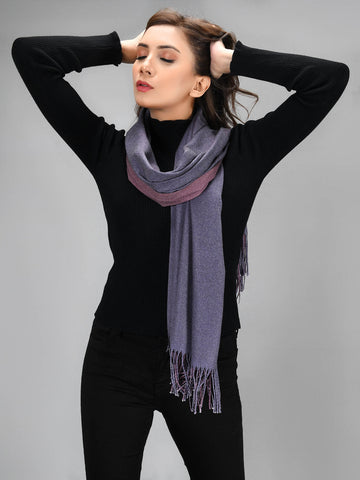 Two Toned Shawl - Purple