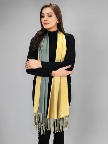 Two Toned Shawl - Yellow