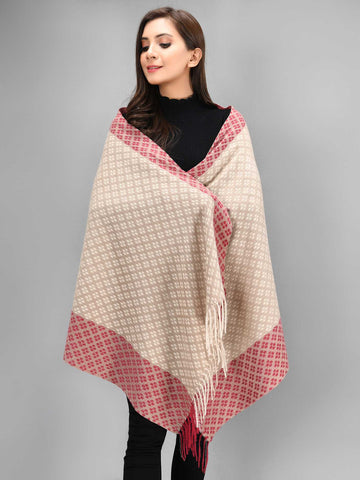 Patterened Shawl-Beige