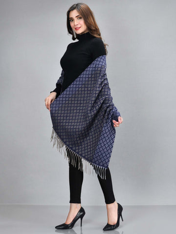 Patterened Shawl-Blue