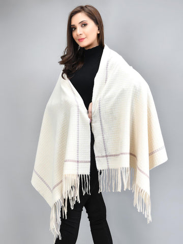 Patterened Shawl - Beige