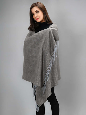 Zigzag Shawl - Brown