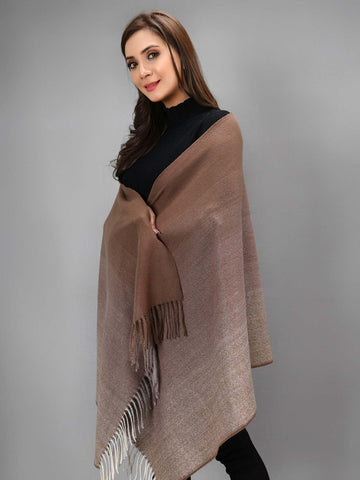 Shaded Shawl - Brown