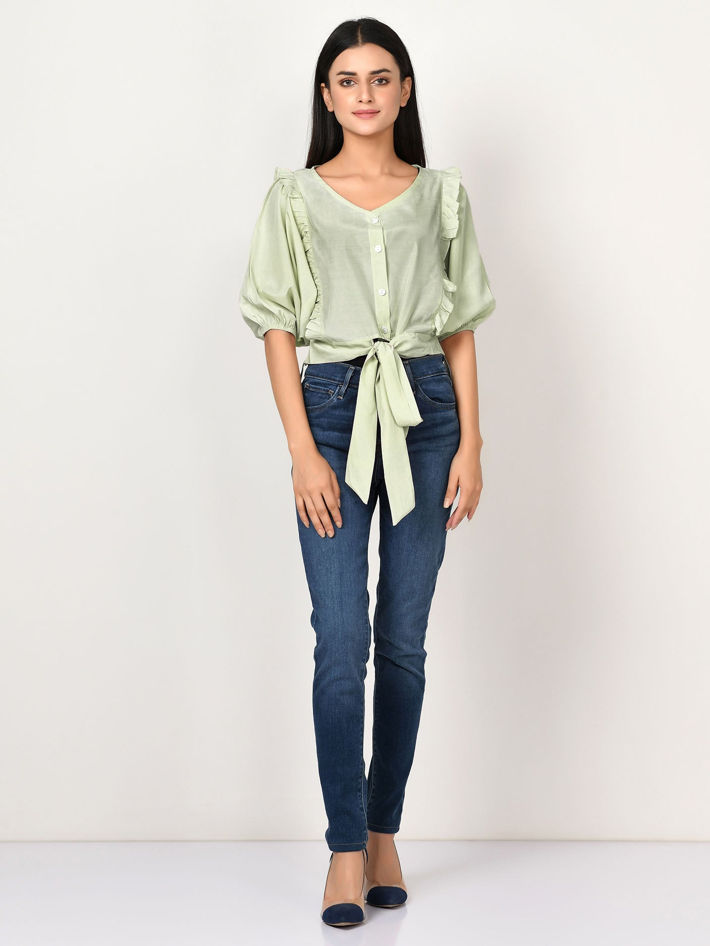 Knotted Silk Top