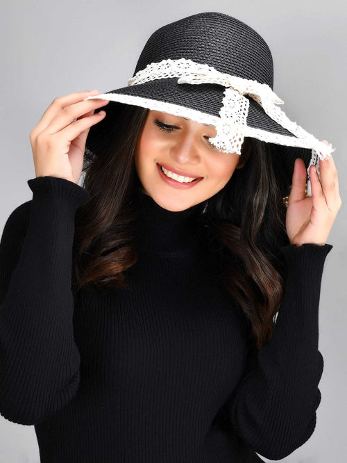 Bowtie Detail Floppy Hat