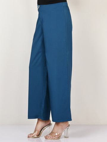Wide Grip Pants -  Blue