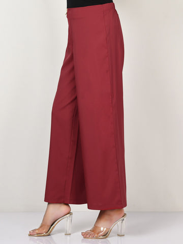 Wide Grip Pants -  Dark Red