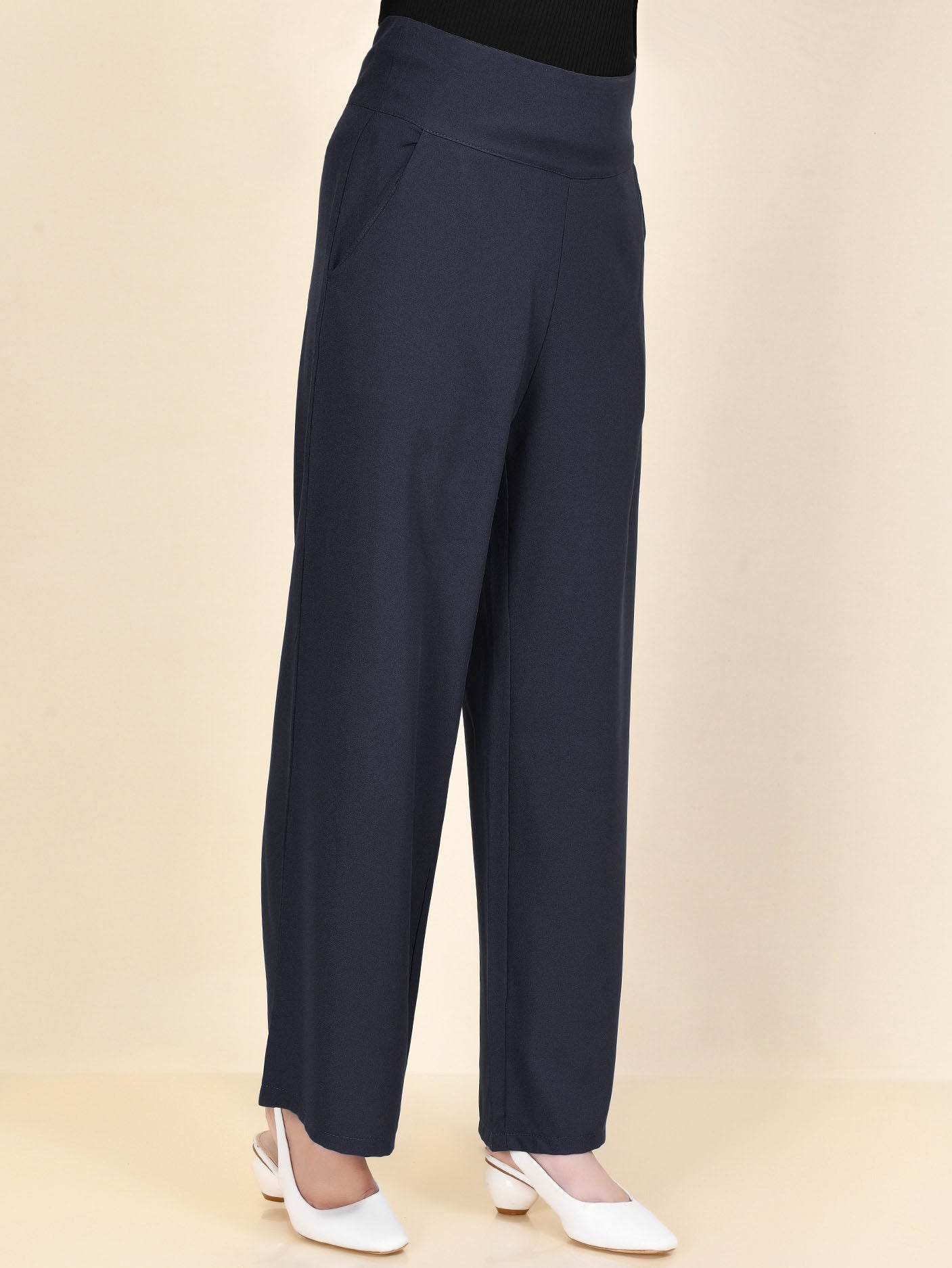 Wide Grip Pants - Dark Blue