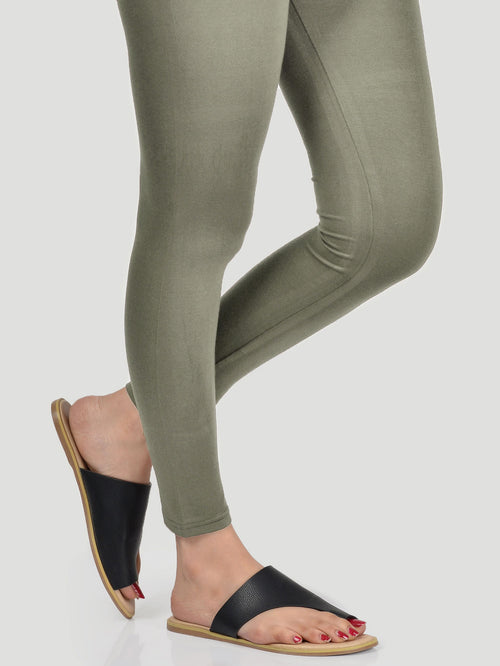 Basic Tights - Olive Green