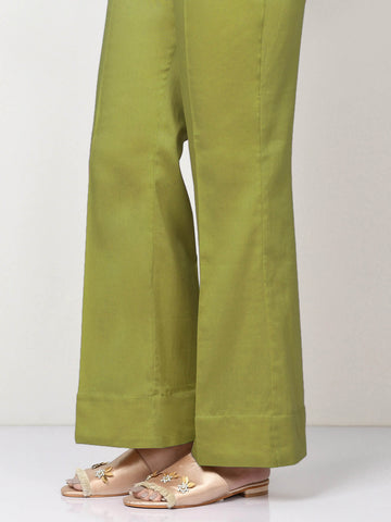 Unstitched Cambric Trouser - Parrot Green