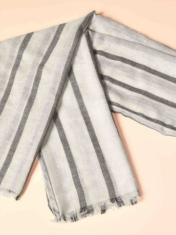 Shimmer Stripe Scarf - Light Grey