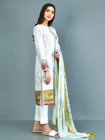 Embellished Lawn Suit