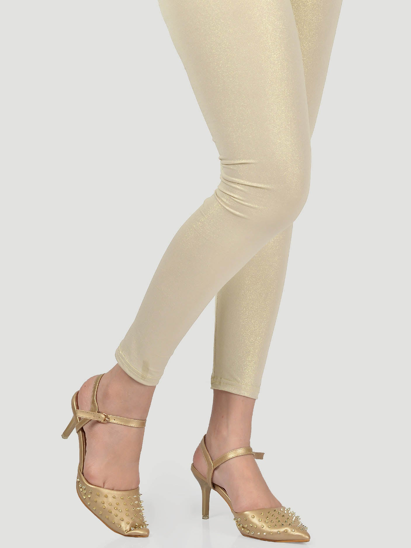 Shimmer Tights - Light Gold