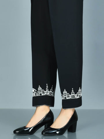 Embroidered Cambric Trousers