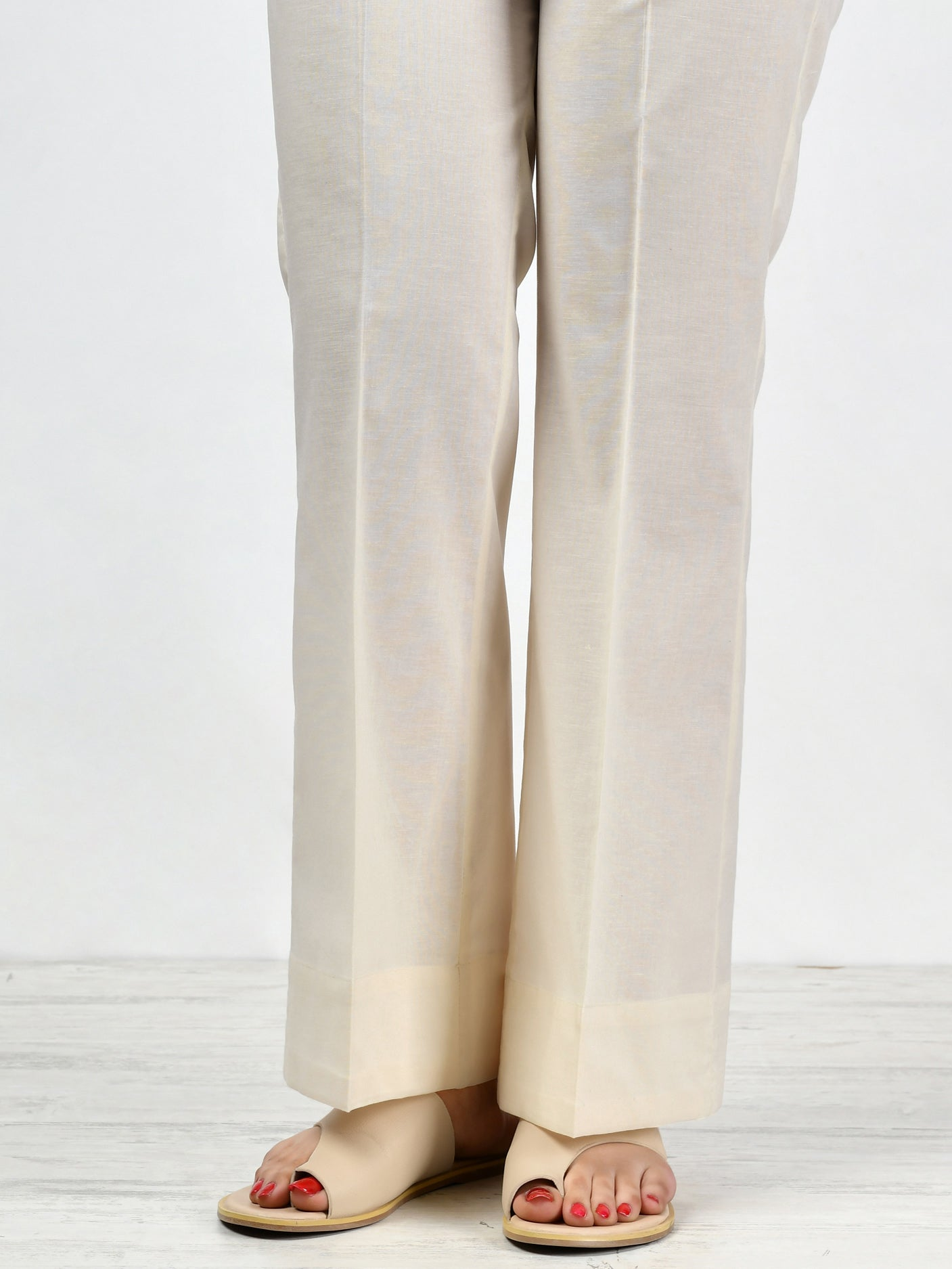 Bootcut Pants-Off White