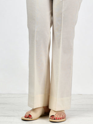 Unstitched Cambric Trouser - Off White