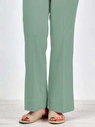 Bootcut Pants-Light Green