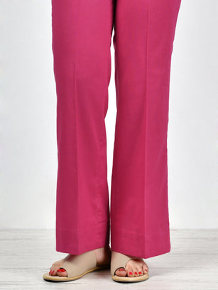 Unstitched Cambric Trouser - Pink