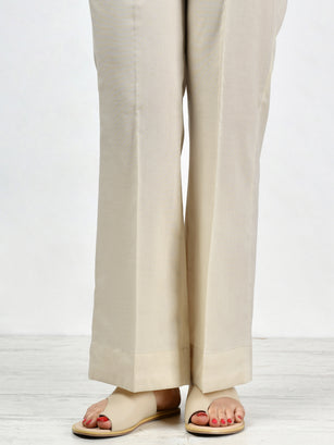 Unstitched Cambric Trouser - L. Beige