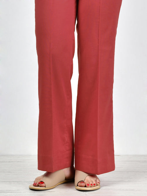 Unstitched Cambric Trouser - B. Red