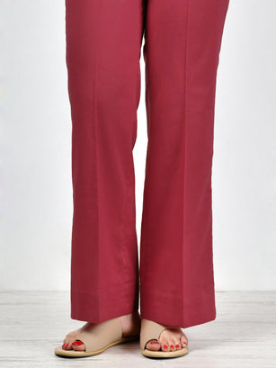 Unstitched Cambric Trouser -Red