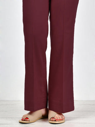 Unstitched Cambric Trouser - D. Maroon