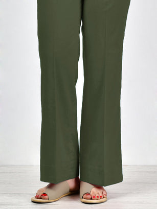 Bootcut Pants-Army Green