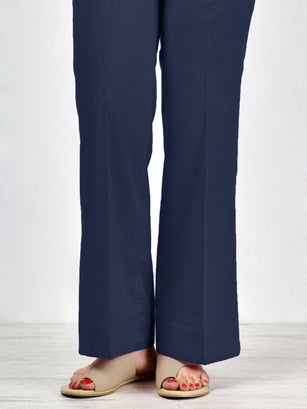 Unstitched Cambric Trouser - D. Blue