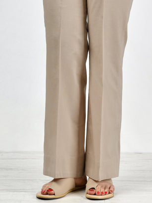 Unstitched Cambric Trouser - D. Beige
