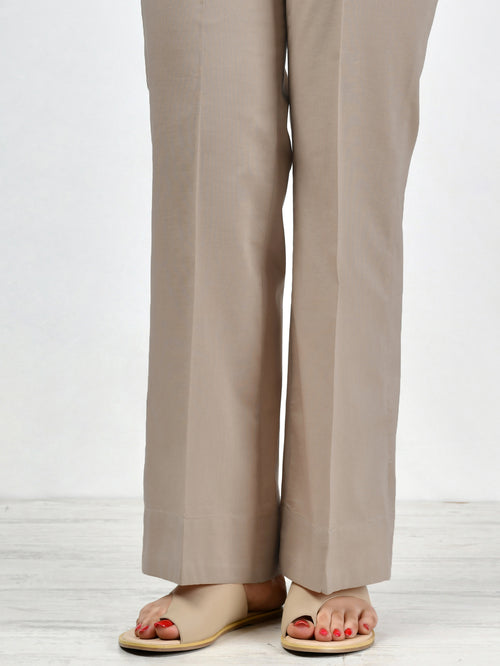 Unstitched Cambric Trouser - Beige