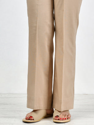 Unstitched Cambric Trouser - D. Khaki