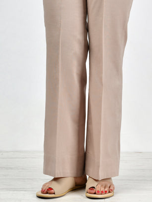 Unstitched Cambric Trouser - M. Beige