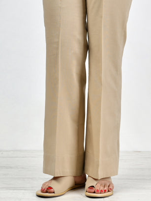 Unstitched Cambric Trouser - Khaki