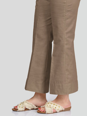 Unstitched Khaddar Trouser - Brown