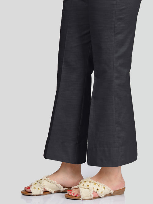 Unstitched Khaddar Trouser - Charcoal