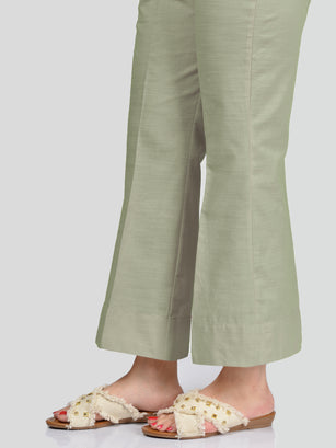 Unstitched Khaddar Trouser - Light Green