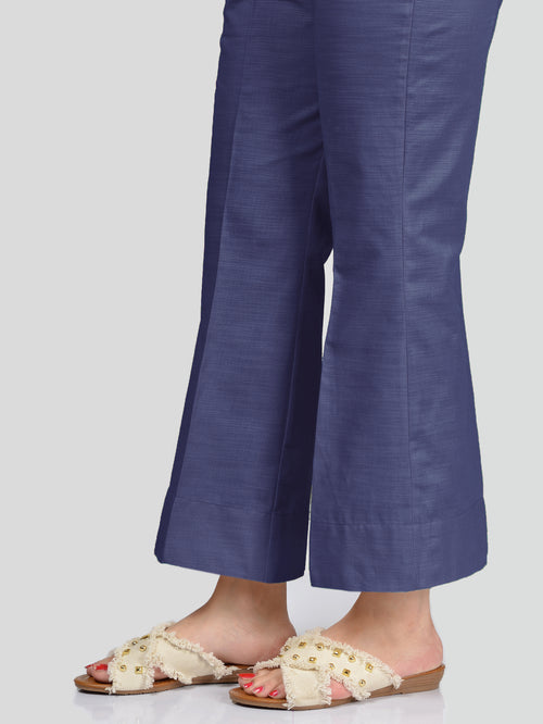 Unstitched Khaddar Trouser - Navy Blue