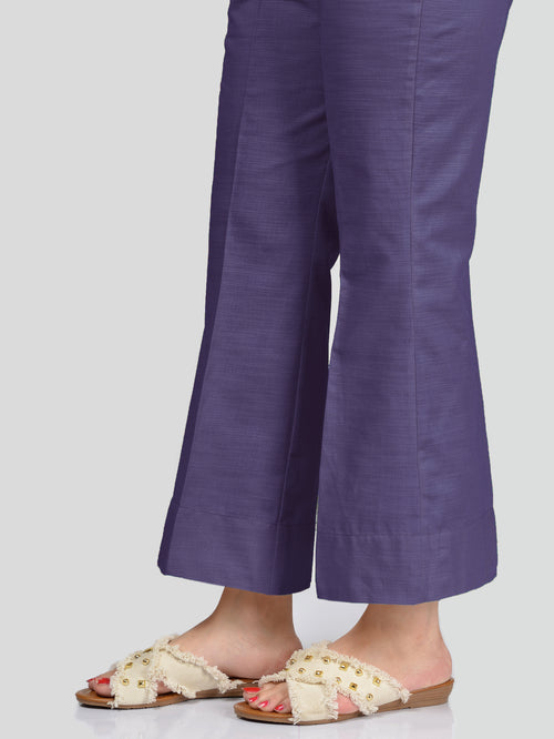 Unstitched Khaddar Trouser - Purple