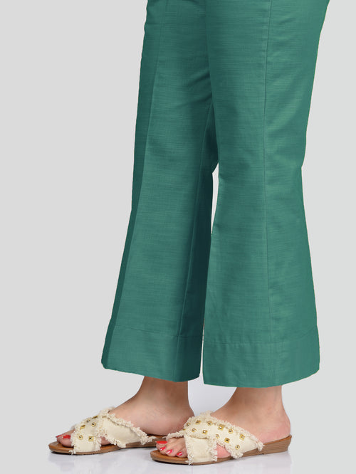 Unstitched Khaddar Trouser - Sea Green