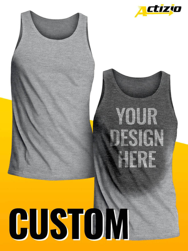 custom actizio sweat activated tank top for men